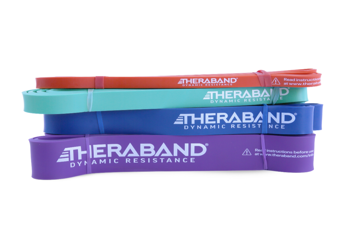 See the Resistance: Indicators for TheraBand High Resistance Bands
