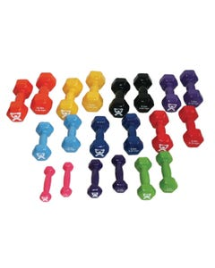 CanDo Standard Weight Dumbbell Set (20 pieces)