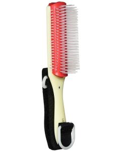 Hairbrush with Hook and Loop Handle