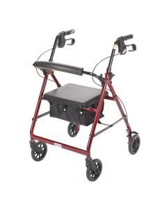 Drive Aluminum Rollator with Fold-Up, Removable Backrest