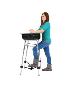 Standing Desk Conversion Kit with FootFidget Footrest
