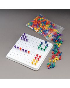 Sammons Preston Multi-Colored Beaded Pegs and Peg Board