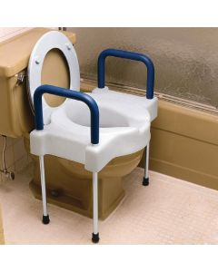 Extra Wide Tall-Ette Elevated Toilet Seat with Legs