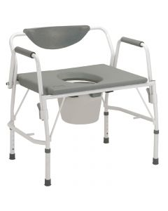 Drive Bariatric Drop-Arm Commode