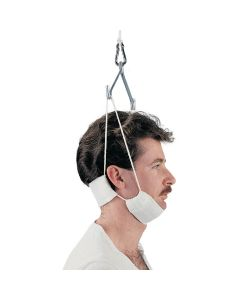 Man wearing Disposable Traction Head Halter
