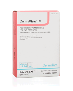 DermaView™ I.V.  Transparent Film Wound Dressing for Catheter Sites - 7101220