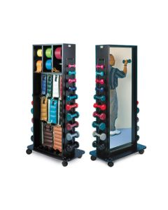 Combination Weight Rack with Mirror