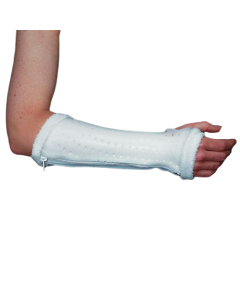 Rolyan AquaForm Zippered Wrist Splint - White