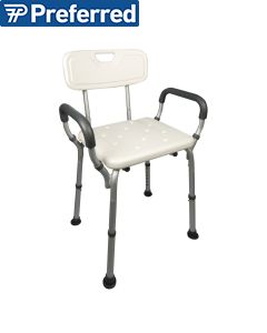 Homecraft Shower Chair w/ Back & Padded Removable Arms