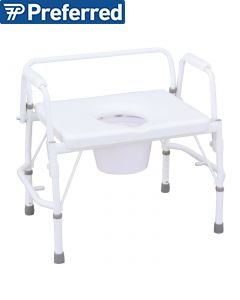 Drop-Arm All in One Bariatric Commode