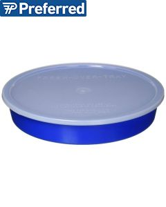 blue divided dish