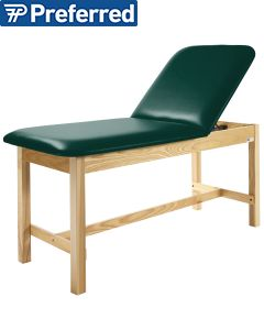 Nose Cutout and Adjustable Back Metron Value Treatment Table with Open Shelf