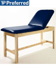 Metron Value Treatment Table - Adjustable Back with Open Shelf