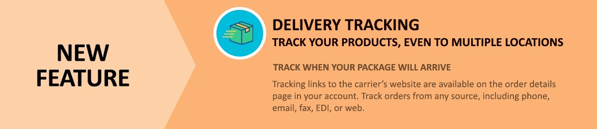 New feature! Track your products, even when shipped to multiple locations, through the order details page in your account.