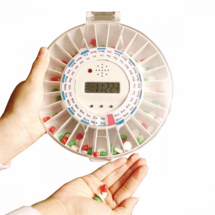 Round Med-E-Lert Pill Organizer