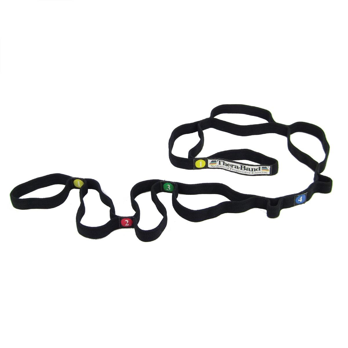 Black TheraBand stretch strap
