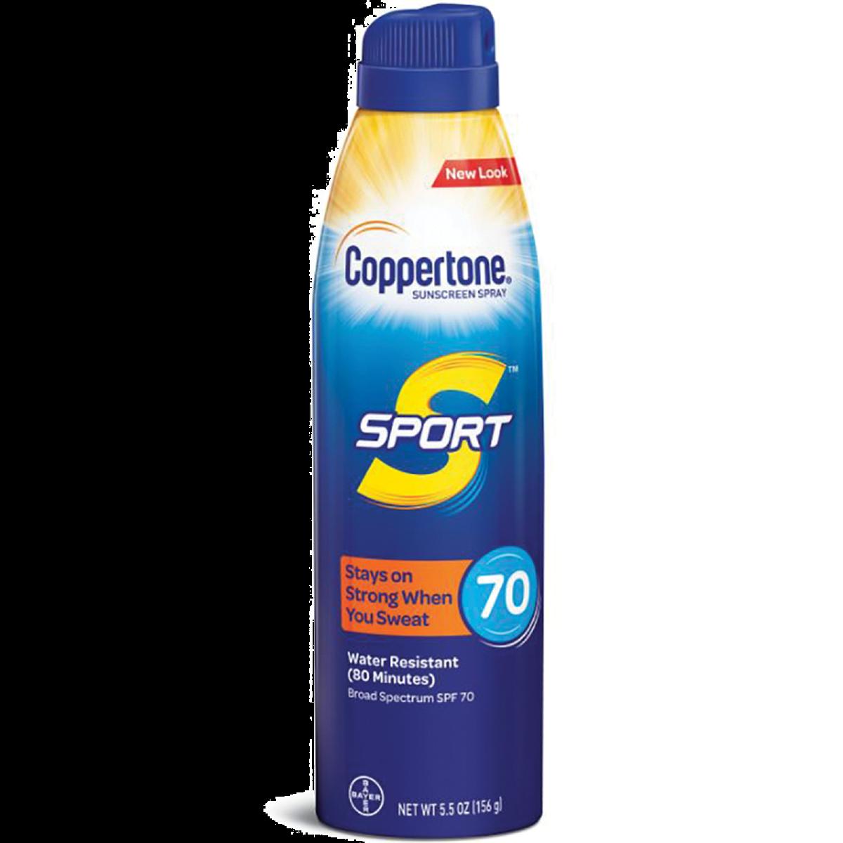Coppertone Sport Sunscreen Continuous Spray Bottle