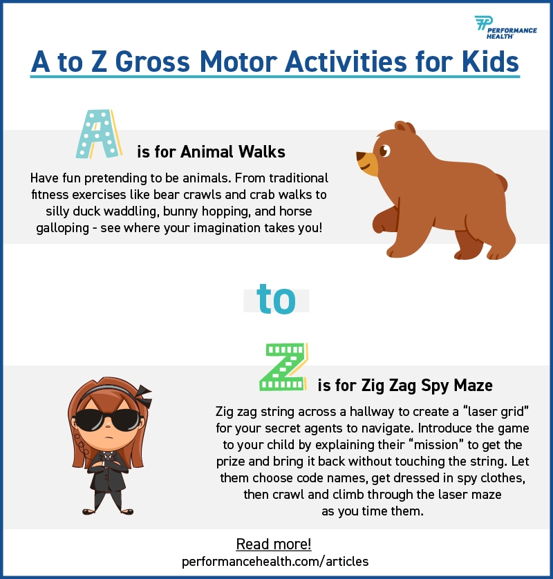 Fun Gross Motor Activities For Kids From A To Z Performance Health