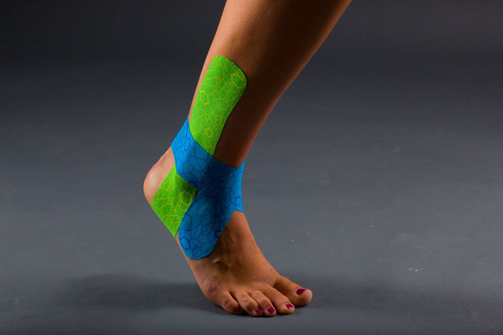 ankle with KT tape