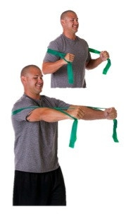 Example Theraband Exercise Chest Press