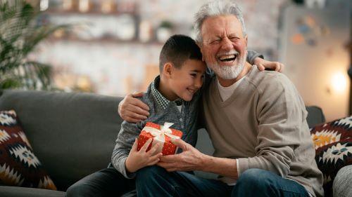 grandpa hugging boy