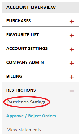 restriction settings
