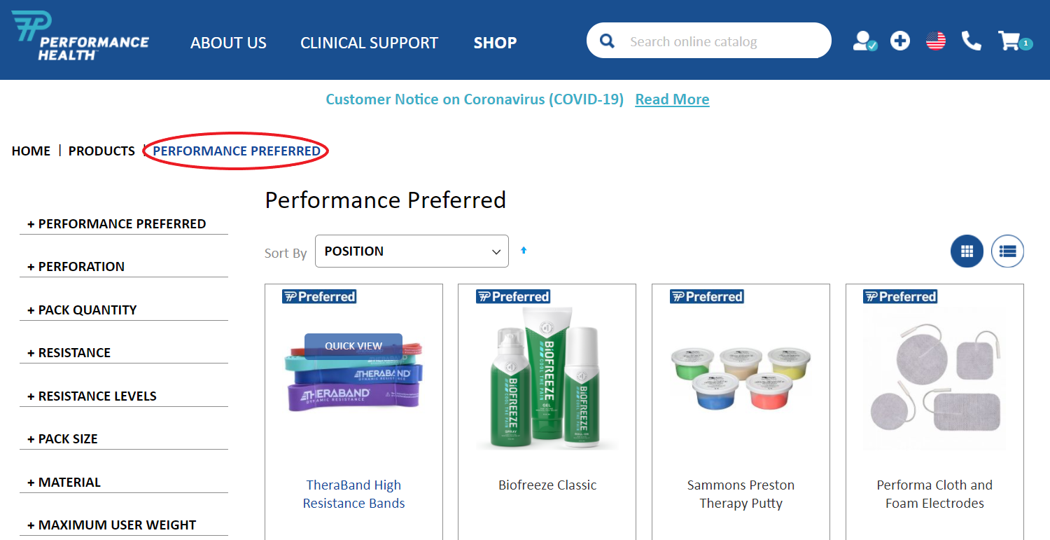 performance preferred page