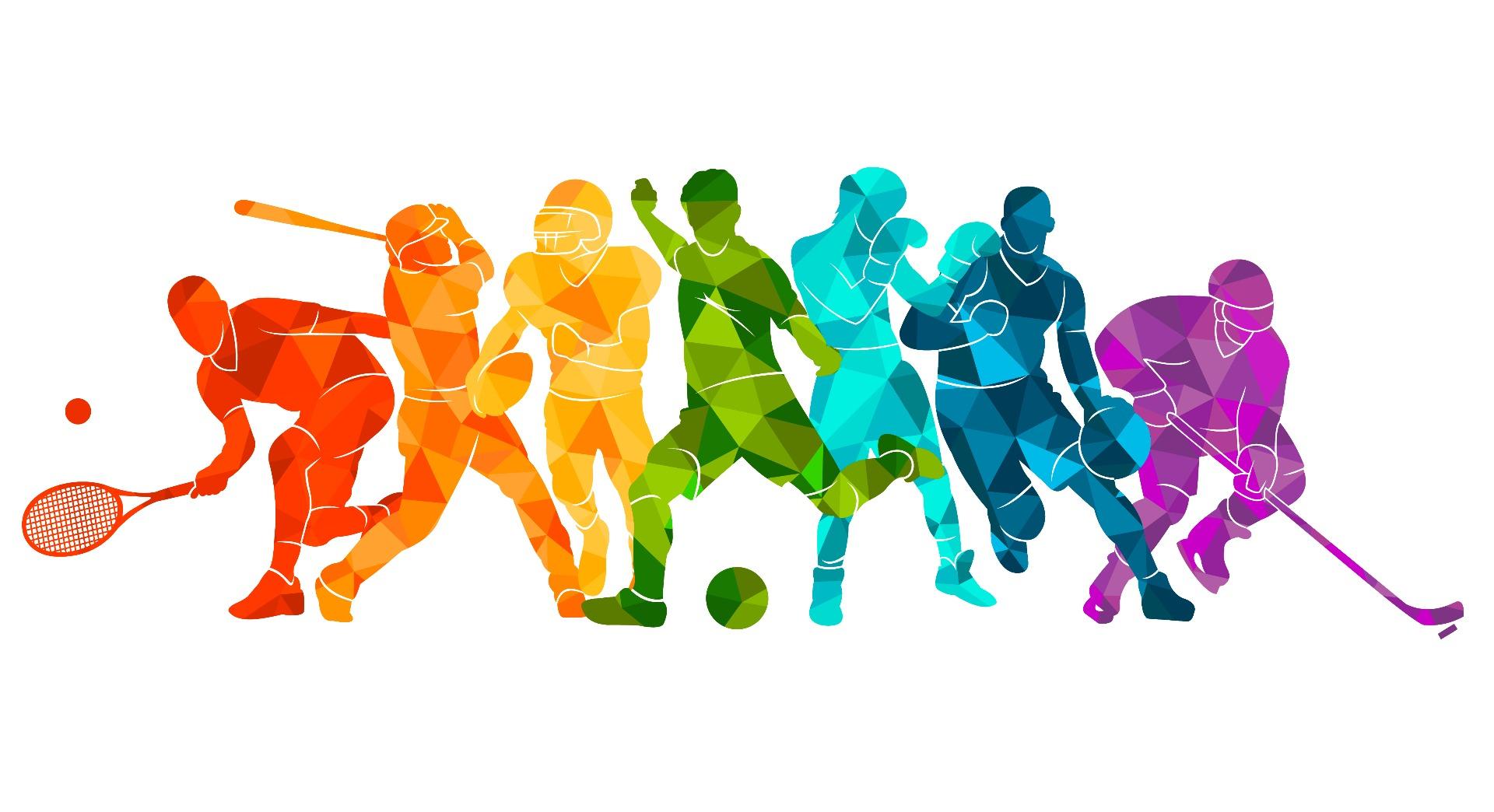 rainbow athlete outlines