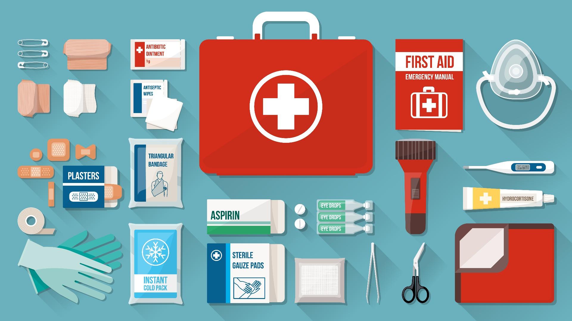 first aid cartoon