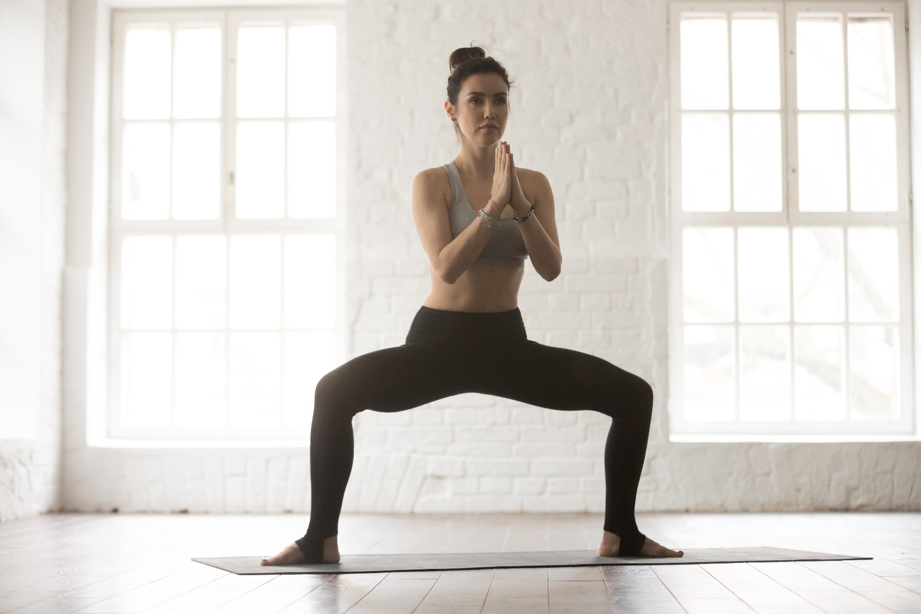 girl doing yoga pose