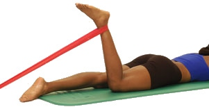 Theraband Knee Flexion Prone