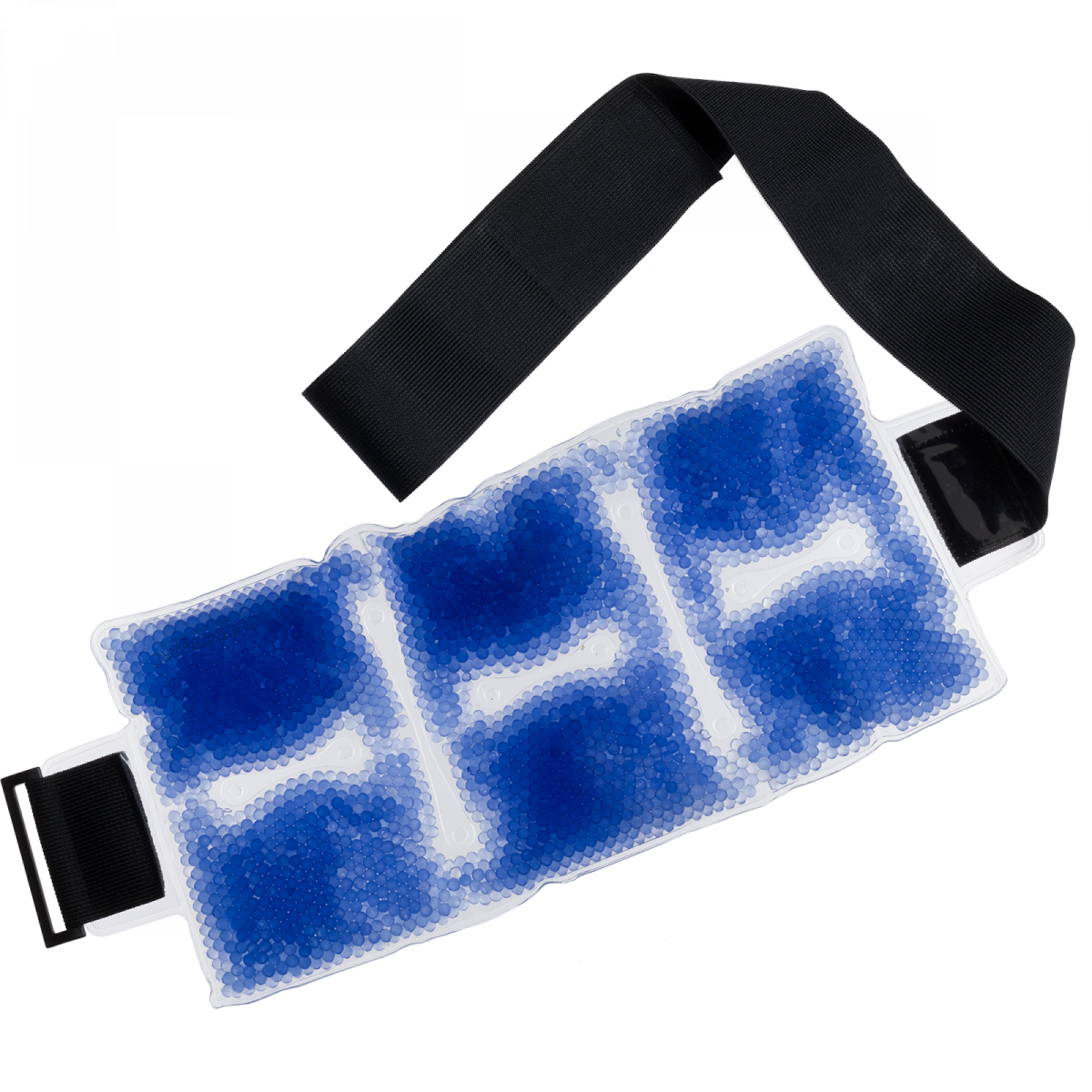 Therapearl blue color changing backwrap with black strap