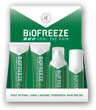 Biofreeze Retail Tabletop Display
