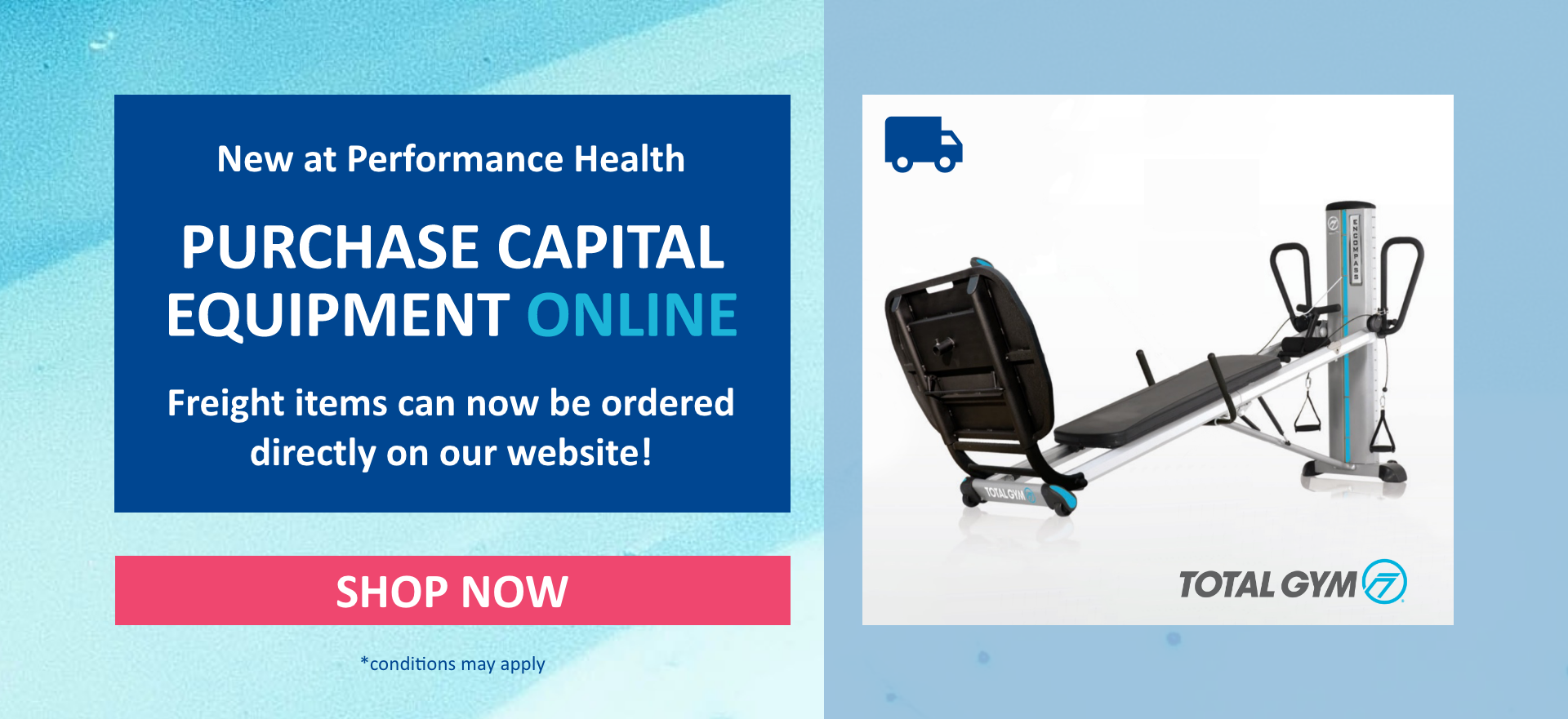 New at Performance Health; Purchase capital equipment including furniture, fitness & exercise equipment online. Shop now!