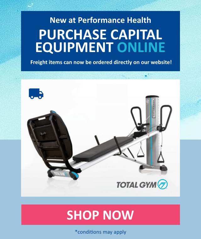 New: purchase freight items including furniture, strength & cardio machines, & rehab equipment directly on our website