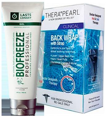 Biofreeze Professional Gel & TheraPearl Back Wrap
