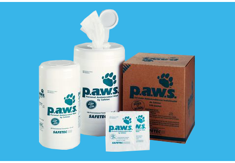 Personal Antimicrobial Wipes (p.a.w.s.)