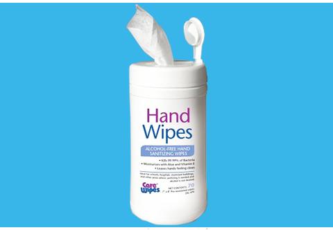 Alcohol Free Hand Sanitizing Wipes